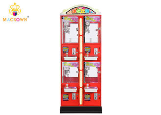 China Gift Catcher Mini Toy Crane Machine / Red Mini Prize Claw Machines Metal Cabinet supplier