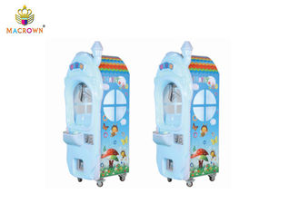 China Mushroom House Doll Coin Operated Claw Machine Metal And ABS Plastic Material supplier