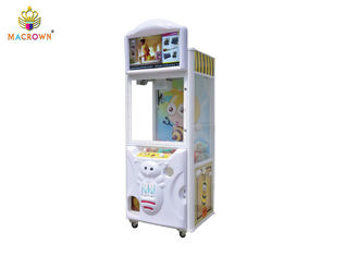 China Amusement Prize Stuffed Toy Vending Machine Colorful LED Light With Advertising Screen / Animal Claw Machine supplier
