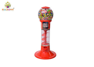 China Macrown Toy Claw Machine Toy Capsule Vending Machine With Red Cylinder Shape supplier
