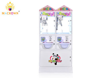 Customized Mini Toy Crane Game Machine Double Players For Shopping Mall