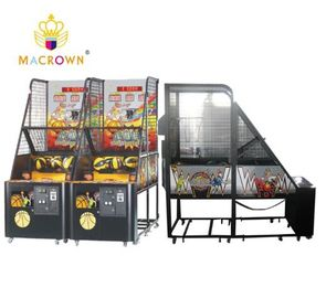 Shoot To Win Street Basketball Arcade Machine , Electronic Basketball Throwing Machine