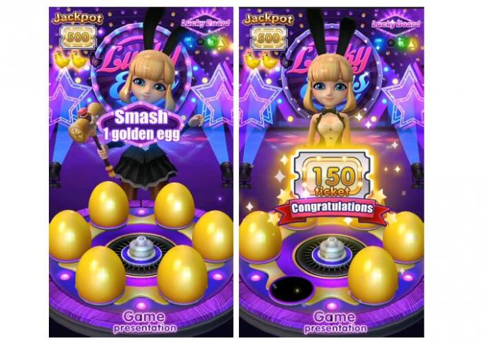 Lucky Egg Capsule Ticket Redemption Machine Arcade Redemption Prizes