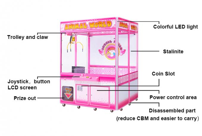 Top Sale Big Size Claw Vending Machine Big Claw Crane Machine Animal World