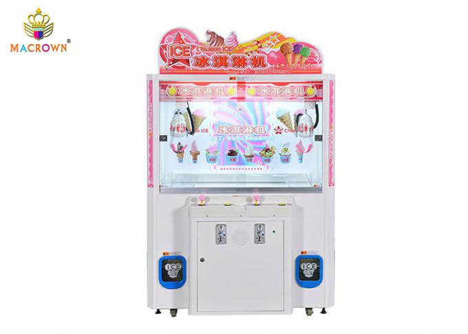 2P White Freezing Claw Crane Machine Triple Catcher Ice Cream Minus 35 Degrees