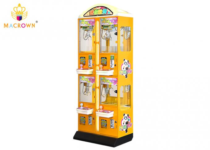 Four Players Mini Toy Crane Machine For Jewelry , Arcade Toy Grabber Machine