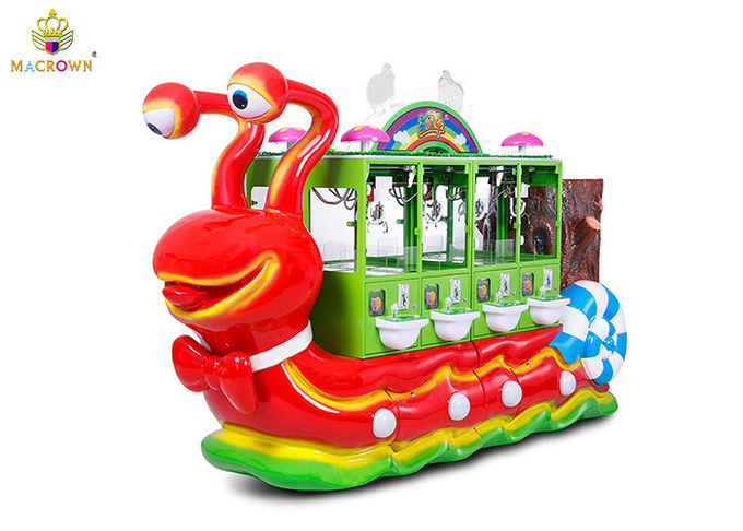 Colorful Large Claw Crane Vending Machine Happy Trip Animal World Game Style